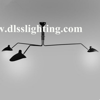 Hot sale industrial style loft black color Serge Mouille modern pendant light for decoration