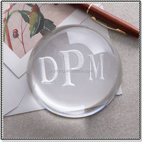 Laser Engraving Crystal Hockey Puck for Desktop Gifts