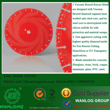 Fire Rescue Blade , vacuum brazed diamond saw blade for concrete, fiberglass, stone, brick, copper, aluminum, glass, PVC, steel
