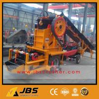 Small Mobile Tractor Marble Crushing Station for road construction