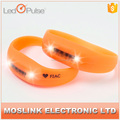 Wearable Adjustable Motion Sensor Silicon Led Flashing Bracelet For Bar