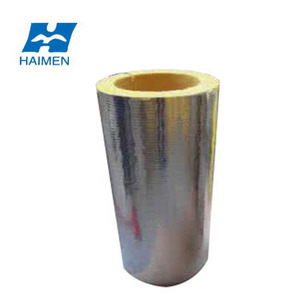 glass wool pipe with cover with aluminum foil