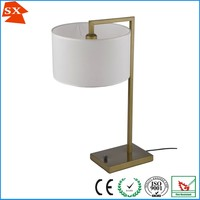 Elegant cylindric plain white fabric iron frame downlight study room floor lamp