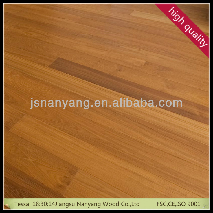 4mm toplayer asian Teak flooring of 3-layer 1-strip manufacturer