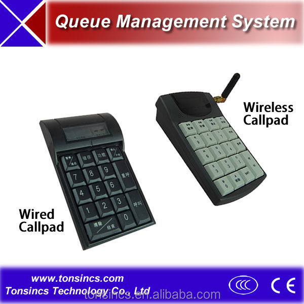Wired RS485 Queuing System Calling Pad/Keypad/Manipulator