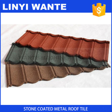 Natural colorful stone chips coated metal roof tile