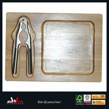 hot selling rubber wood nut tray with cracker nut cracker & tray set bolt and nut trays