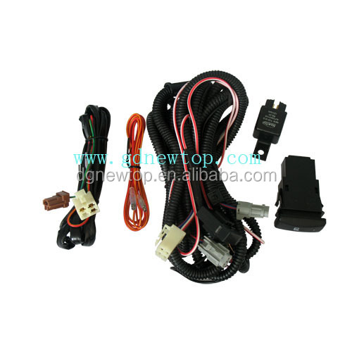 cheap electrical led light bar wiring/wire harness for 99 - 00 honda civic fog lights