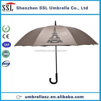 30 inch high quality Eiffel Tower doule coated fiberglass perrier umbrella