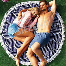 2017 Trending Products Large Round Beach Towel, High Quality Personalized Beach Towels in Bulk Party Favors for Two