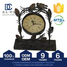Lightweight Special Cute Design Home Decoration Antique Brass Table Clock