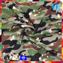 China knitting fabric for green camouflage T-shirt 100 cotton fabric