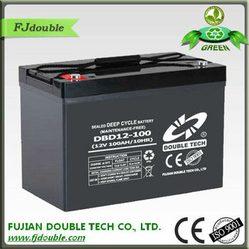 china factory supplier maintenance free 12v 100ah DEEP CYCLE AGM rechargeable battery for home solar system