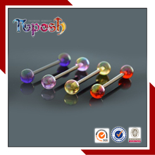 Toposh Wholesale Hypoallergenic UV Acrylic Body Piercing Tongue Barbell