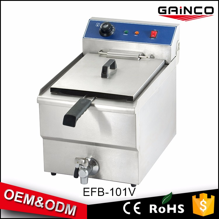 hotel kitchen equipment Commercial KFC deep fryer 14L deep fryer with valve thermostat EFB-101V