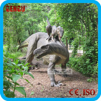 Amusement Park Decoration Inflatable dinosaur cartoon Or Fiberglass Dinosaur