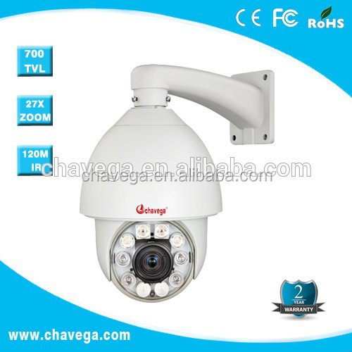 6 inch Intelligent IR Auto Tracking High Speed PTZ Dome Camera 27x Optical Focus