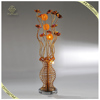 Newest Design Modern Standing Aluminum Wire Flower Vase Floor Lamp,Gold Color Floor Lamp