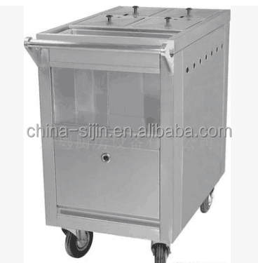 China wholesale high quality kitchen equipment Luxury stainless steel conjee cart