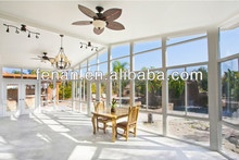 Used prefabricated aluminum sunroom garden glass house for sale