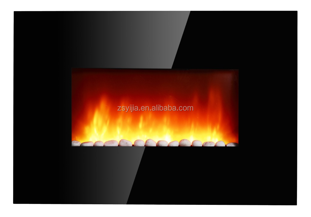 Home Decorative Wall Mounted electrical glass panel fireplace with CE/CB/GS approved