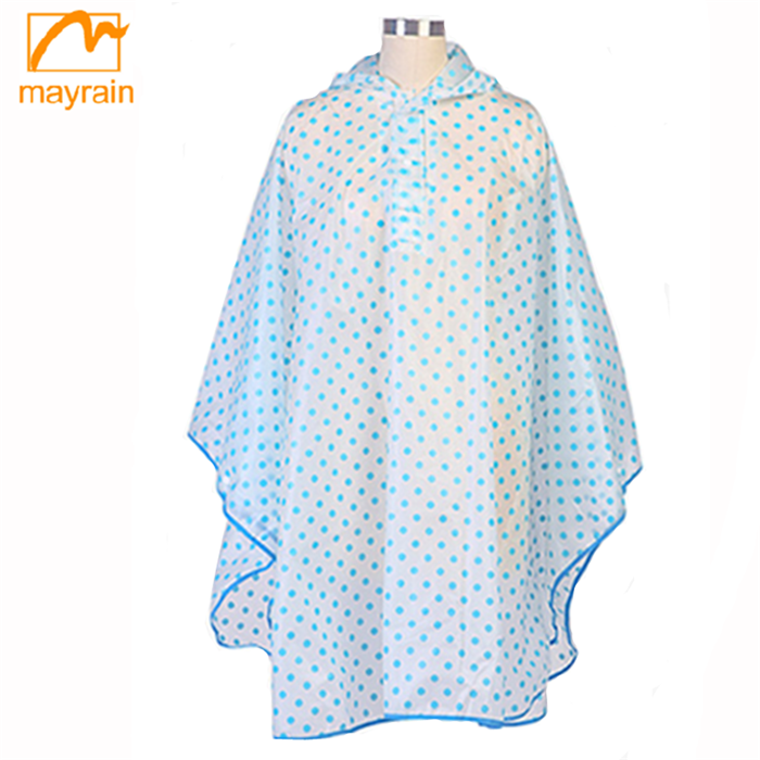 Wholesales cheap reusable adult fabric PVC rain poncho/raincoat poncho