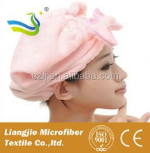brands microfiber suede twist hair towel china manufacturer