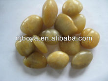 yellow paving pebble stone for garden decor, landscaping pebbles