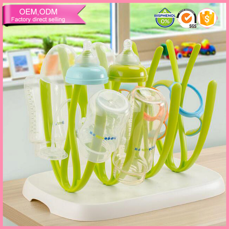 New Design Baby Care Folding Drinking Glass Bottle Drying Rack