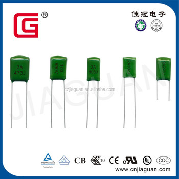 Mylar capacitor with green color