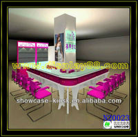 This is women's world! Modern nail salon kiosk design in nail beauty shop, Square nail bar kiosks for sale