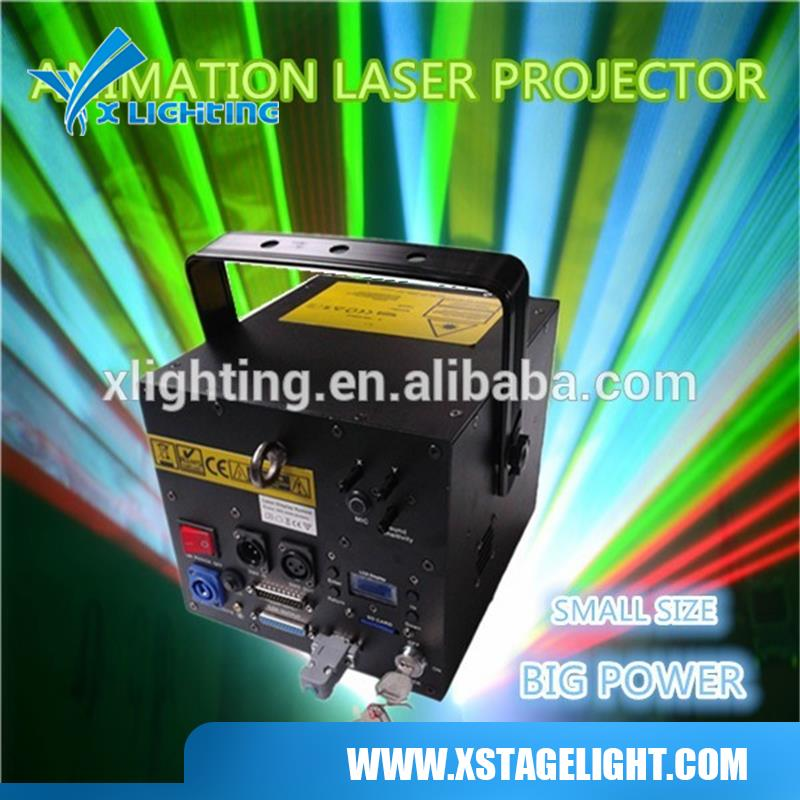 2014 Hot 4000mw RGB Full Color Animation Laser projector