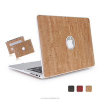 New style PU leather wooden cases for apple laptop Mac pro