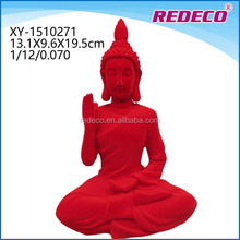 Home decorative polyresin india buddha ornament souvenir with folcked