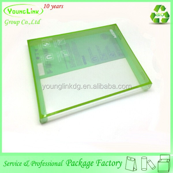 High quality clear printing plastic box for ipad case