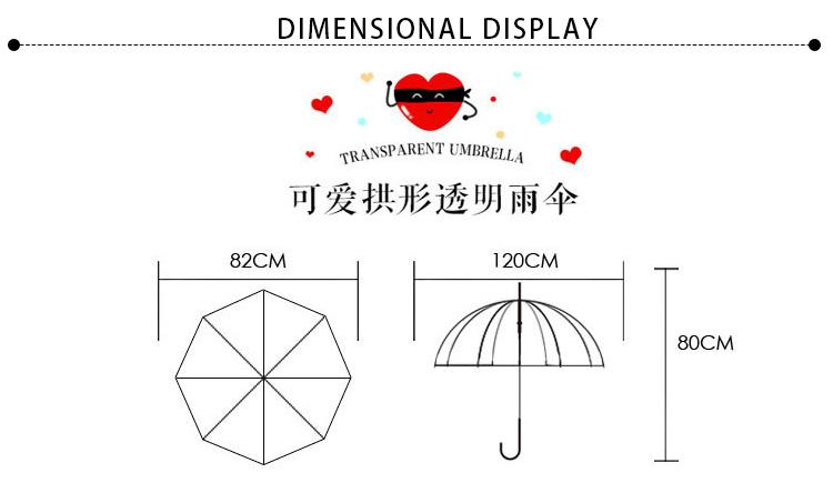 RST wholesale high quality automatic Lovely Unicorn clear transparent rain umbrellas
