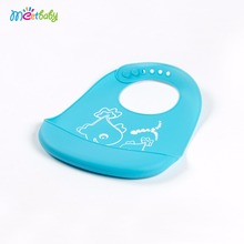 Hot Selling Cheap Waterproof Silicone Bib Easily Wipes Clean Comfortable Soft Fancy Baby Bibs