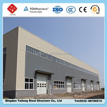 modern design Low cost Prefabricated light steel structure factory workshop building