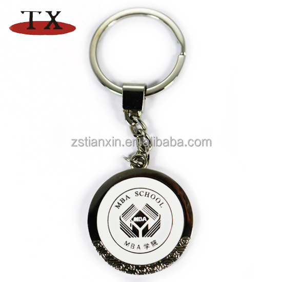 Engraved zinc alloy advertising key chain of publicity tool