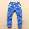 Huade New Fashion kids Pant Design Soft Cotton With Fitness Solid Color Drawstring made in china