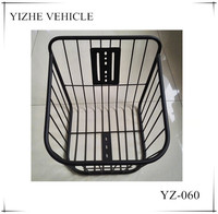 2015 cheap bicycle basket / steel wire bicycle basket / china bicycle basket