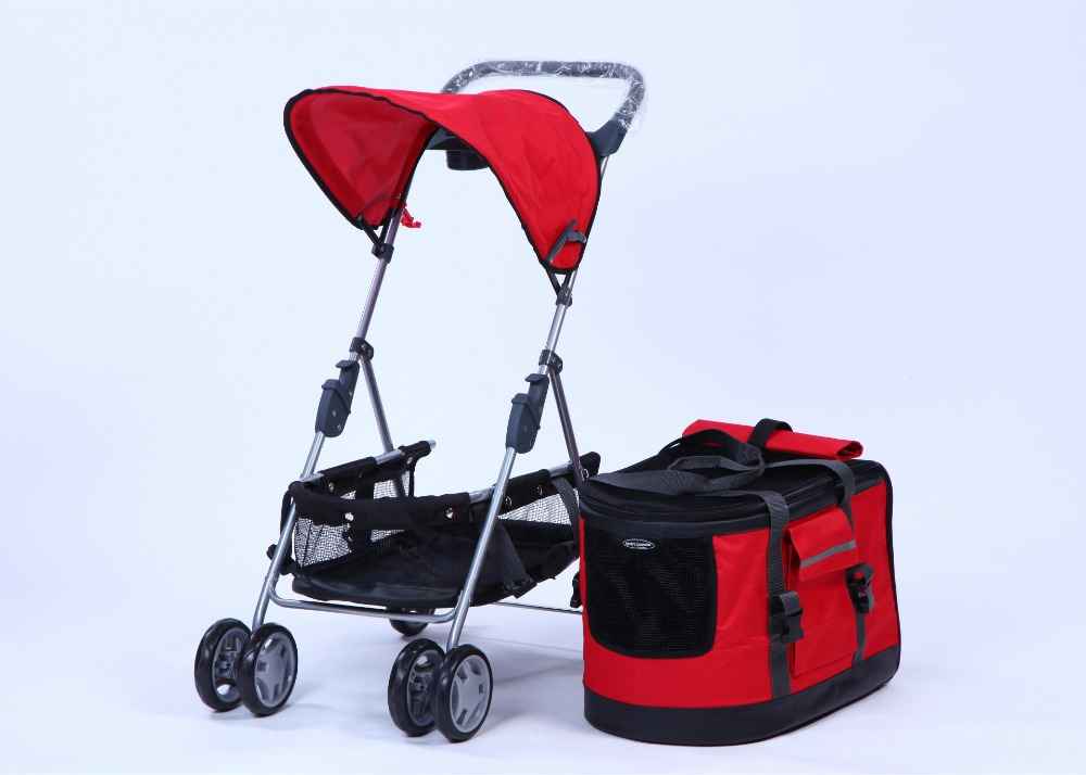 YZ06 Redhill 4 Wheels Foldable aluminum pet trolley/trolley pet carrier/dog strollers pet trolley