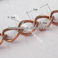Brass Chain 0.5x3.5x5mm Nicmkel-Free Lead-Safe brass zipper chains