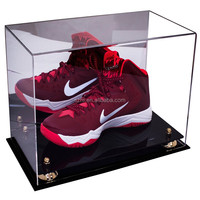 Deluxe Acrylic Large Nike Shoe Display Case for Basketball Shoes, Soccer Cleats and Football Cleats with riser