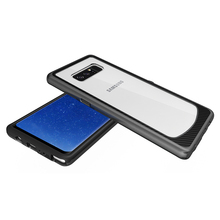 Manufacturer Wholesale For Samsung Galaxy Note 8 Hybrid Combo Case 2 in 1 Transparent PC+Silicon Case Shockproof Defender Case