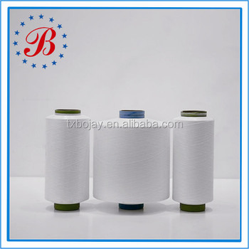 China Supplier Wholesale TBR Semi Dull HIM Raw White Polyester DTY Yarn 150D 48F