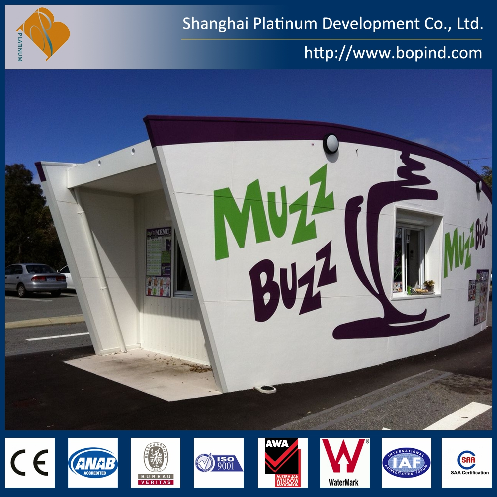 Prefabricated container house for office&shop