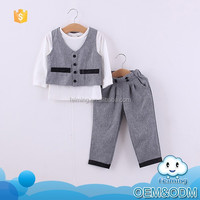 2015 autumn boys party clothes suit vintage style kids set with cap