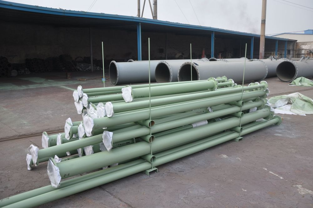 LIWEI Carbon Steel Coated LLDPE and HDPE Rubber Lined Pipe Fittings