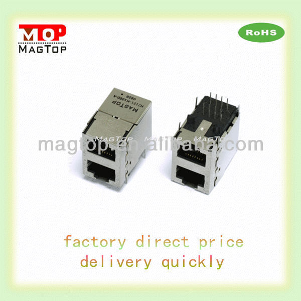 rj45 Magnetics Module jack/2 port connector
